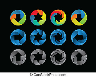 ícone, abstratos, cor, jogo