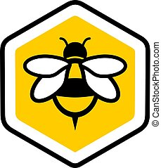 ícone, agradável, abelha