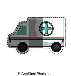 ícone, ambulância, veículo