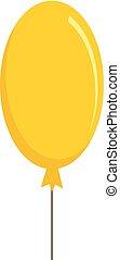 ícone, apartamento, balloon, estilo, amarela