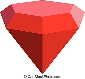 ícone, apartamento, diamante, triangular, style.
