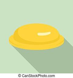 ícone, apartamento, estilo, amarela, preservativo