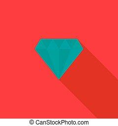ícone, apartamento, estilo, diamante