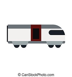 ícone, apartamento, estilo, trem