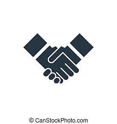ícone, aperto mão