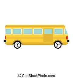 ícone, autocarro, estilo, apartamento