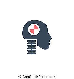ícone, av, branca, estoque, dummy, teste, cabeça, vetorial, segurança, ilustração, experiência., veículo, isolado, choque
