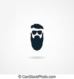 ícone, barba