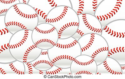 ícone, basebol, vetorial
