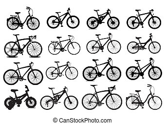 ícone, bicicleta