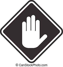 ícone, branca, passe, um, cinzento, fundo