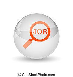 ícone, busca, trabalho