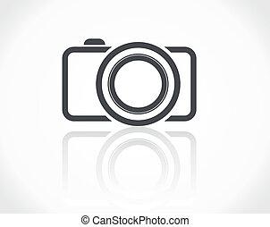 ícone, câmera
