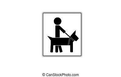 ícone, cão, guia