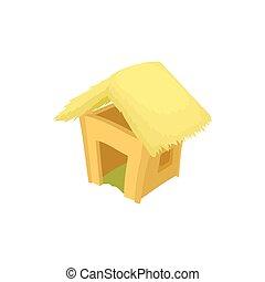 ícone, cabana, estilo, caricatura