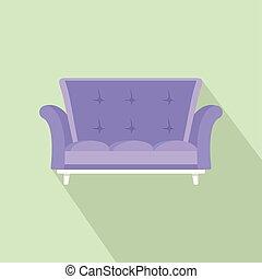 ícone, cabriole, estilo, sofá, apartamento