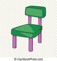 ícone, cadeira, estilo, caricatura, crianças