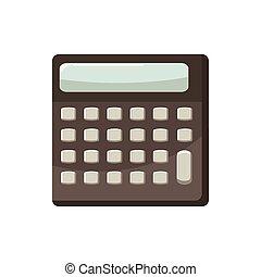 ícone, calculadora, estilo, caricatura