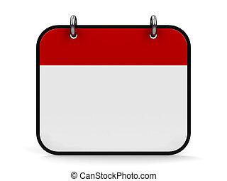 ícone, calendário