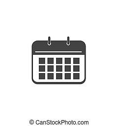 ícone, calendário, vetorial