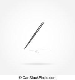 ícone, caneta