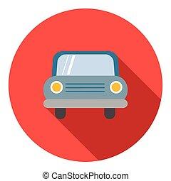 ícone, car, estilo, apartamento