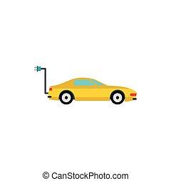 ícone, car, estilo, eletro, apartamento