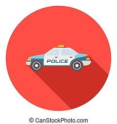 ícone, car, estilo, polícia, apartamento