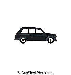 ícone, car, estilo, retro, apartamento