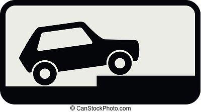 ícone, car, style., apartamento