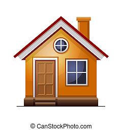 ícone casa, isolado, branco, fundo