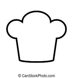 ícone, chapéu, cozinheiro