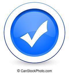 ícone, cheque, aceitar, sinal