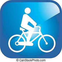 ícone, ciclista