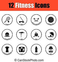 ícone, condicão física, jogo