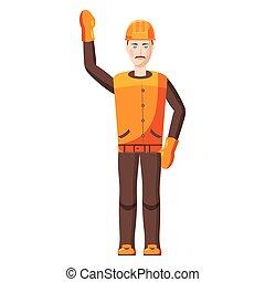 ícone, construtor, estilo, caricatura