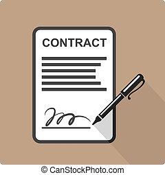 ícone, contrato