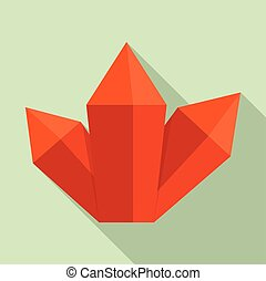 ícone, cristal, estilo, vermelho, apartamento