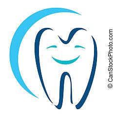 ícone, dental