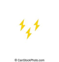 ícone, design., thunderstorm, simples, vetorial, illustration., apartamento
