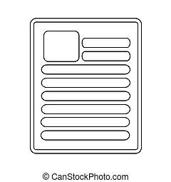 ícone, documento