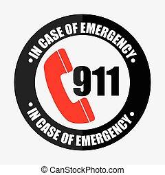 ícone, emergência