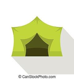 ícone, equipamento, estilo, acampamento, apartamento