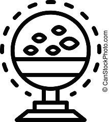 ícone, esboço, sounder, peixe, eco, estilo