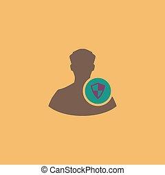 ícone, escudo, avatar