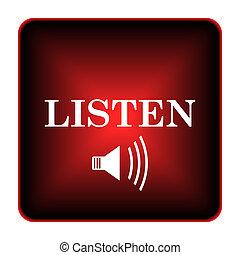 ícone, escutar