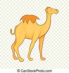 ícone, estilo, caricatura, camelo