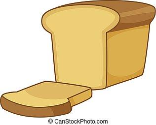ícone, estilo, caricatura, pão