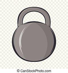 ícone, estilo, caricatura, peso