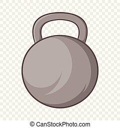 ícone, estilo, caricatura, peso, esportes
